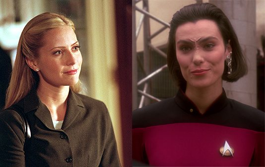 Ainsley Hayes Ro Laren West Wing Star Trek Next Generation TV