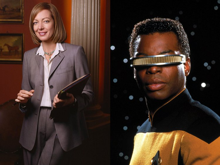 CJ Cregg Geordi LaForge West Wing Star Trek Next Generation TV