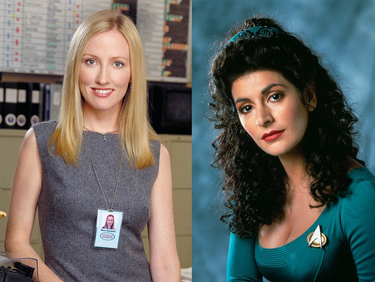 Donna Moss Deanna Troi West Wing Star Trek Next Generation TV