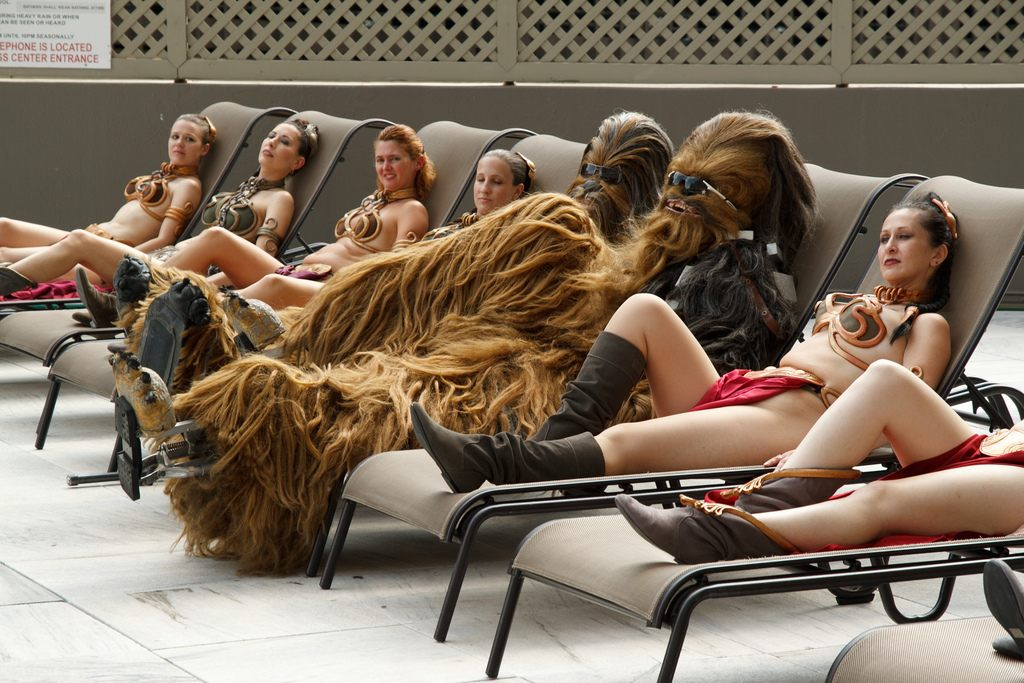 Not asking for it. Not even the Wookiees. Photo by Ethan Trewhitt. Used under a Creative Commons License.