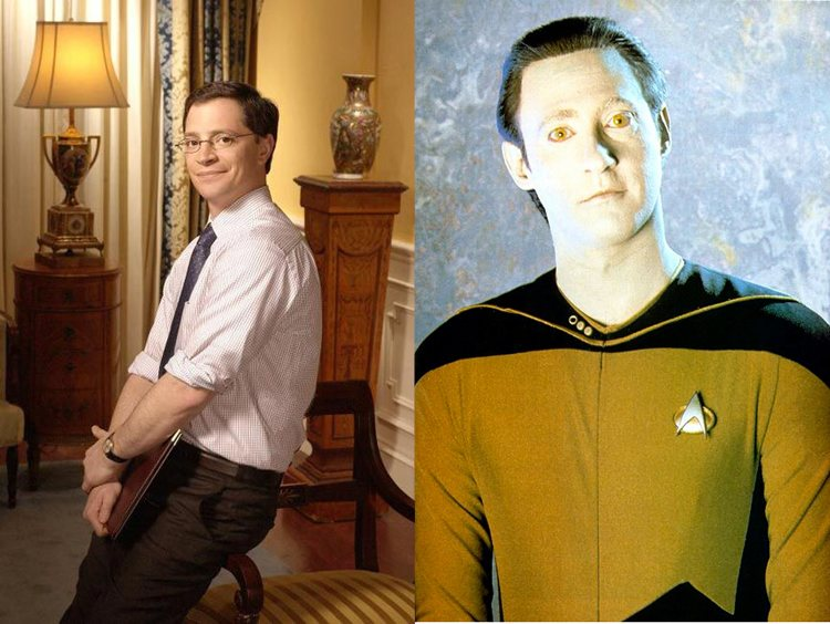 Will Bailey Data West Wing Star Trek Next Generation TV