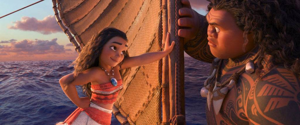 Moana lets the demigod know who's boss. © 2016 Disney. All rights reserved.