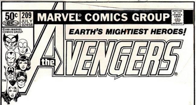 Avengers logo Gaspar Saladino