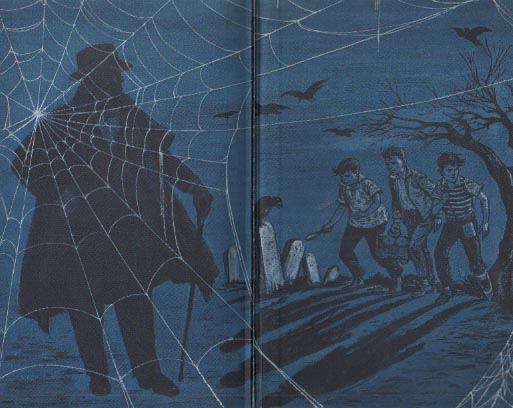 The original Three Investigators endpapers, with...Alfred hitchcock?