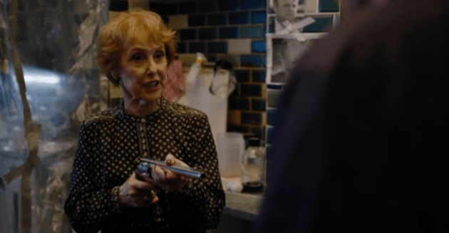 Gun-toting Mrs. Hudson