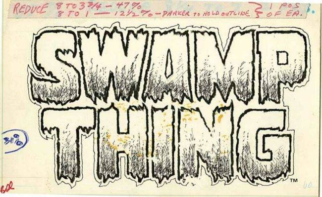 Swamp Thing logo Gaspar Saladino