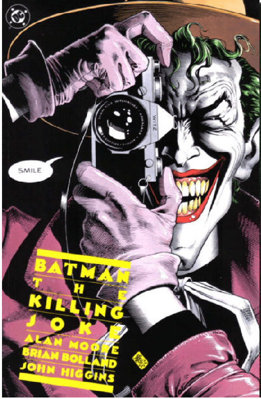 Batman Killing Joke cover Hoarder advertised