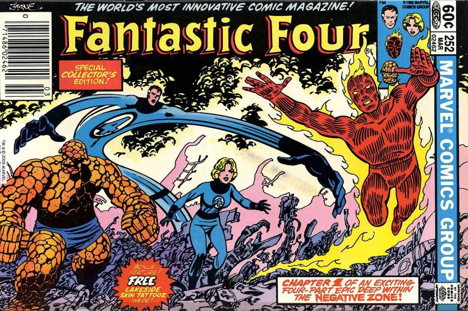Fantastic Four 252 sideways issue