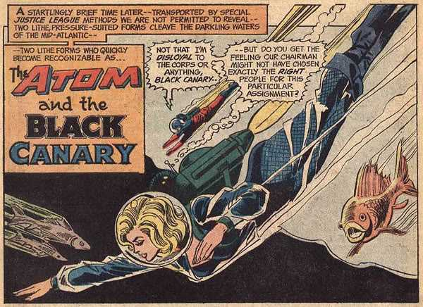 JLA 109 Black Canary Atom