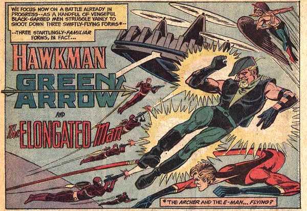 JLA 109 Hawkman Green Arrow Elongated Man
