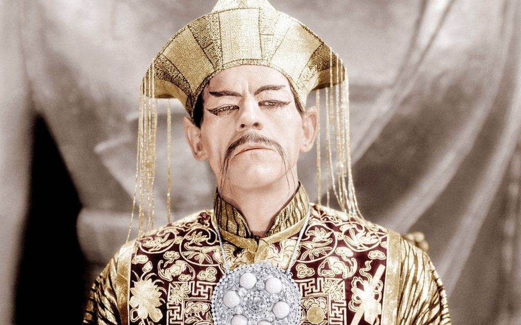 Boris Karloff as Fu Manchu