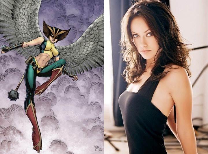 Hawkgirl Olivia Wilde JLA