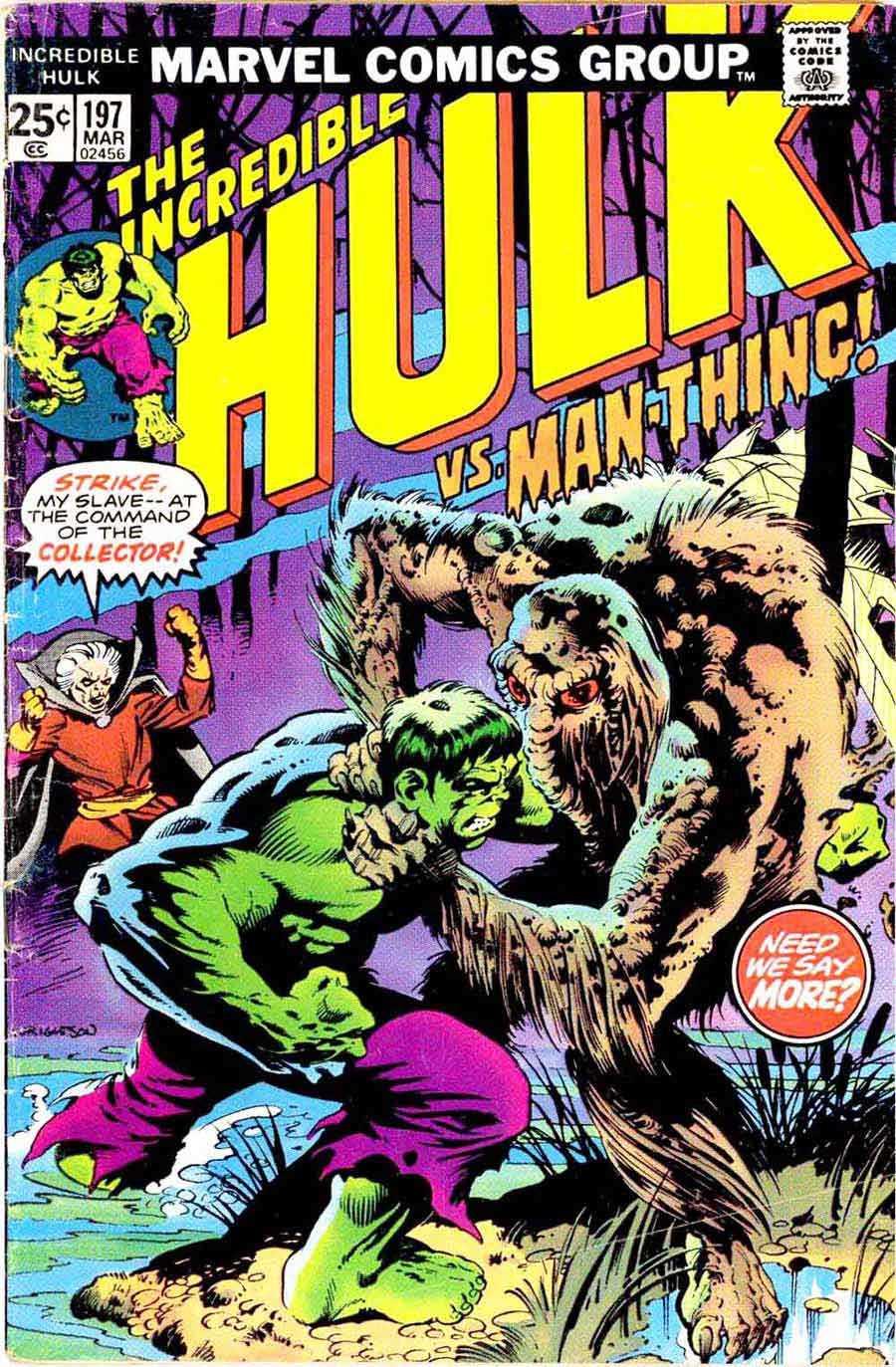 Hulk Man-Thing Bernie Wrightson