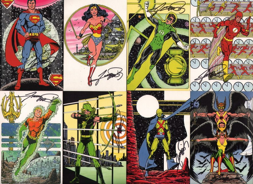 JLA postcards George Perez