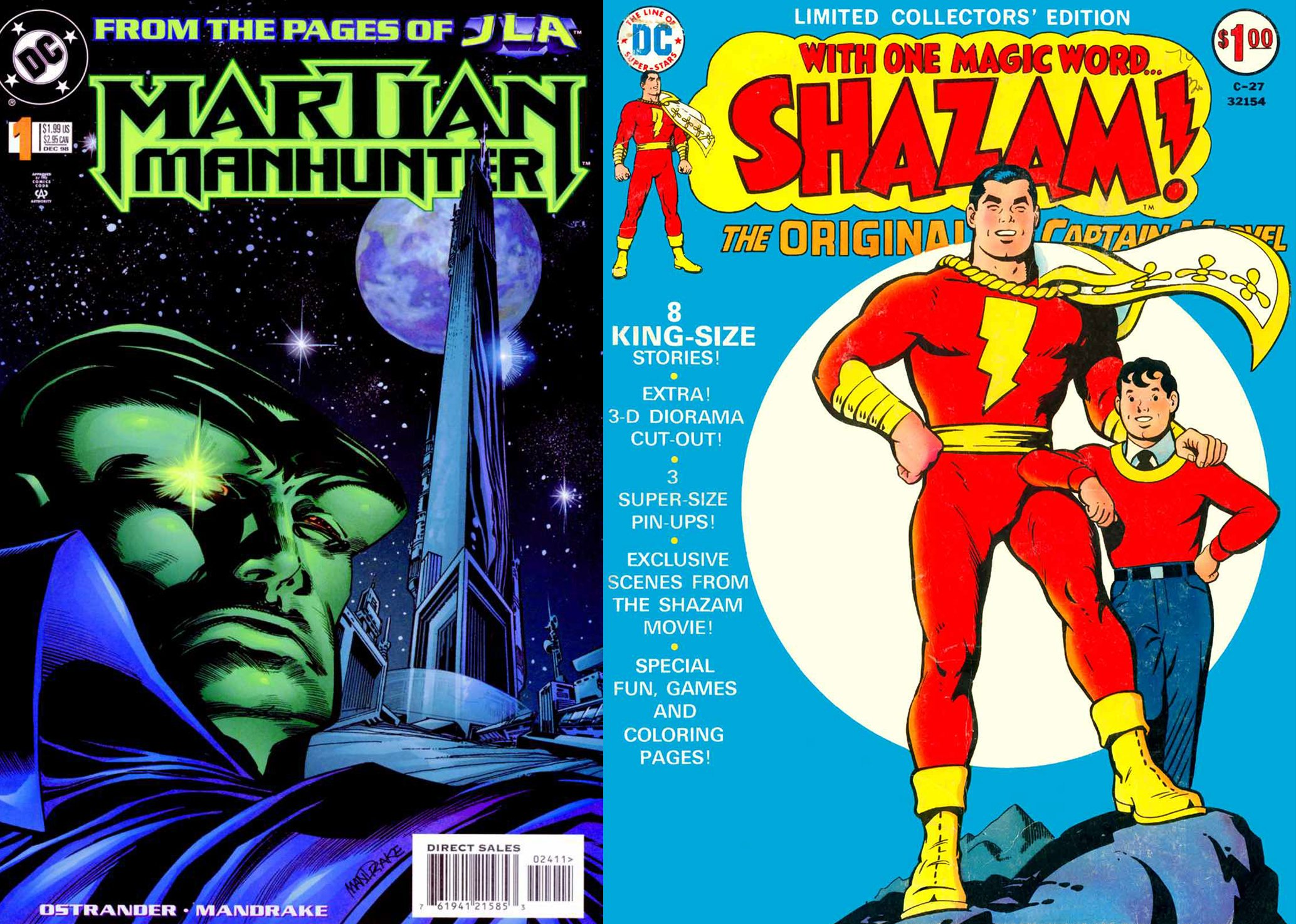 Martian Manhunter Captain Marvel JLA