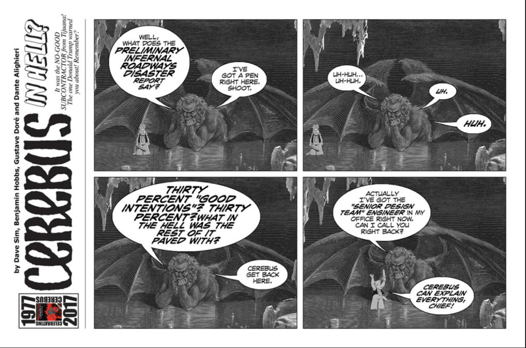 Cerebus in Hell example strip