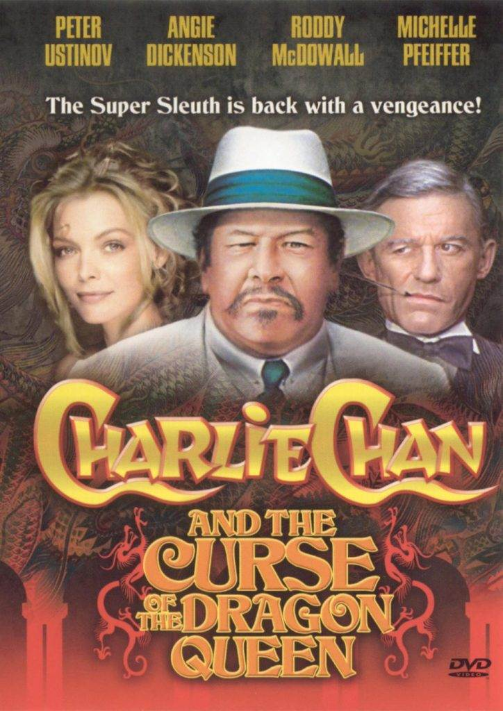 Peter Ustinov as Charlie Chan; another English guy playing Chinese.