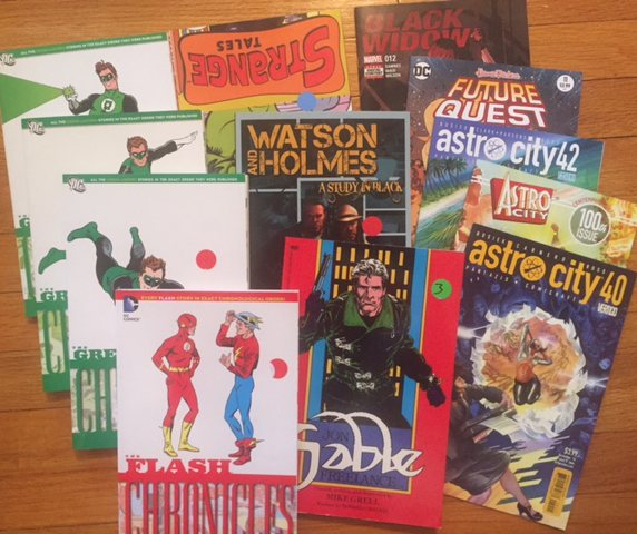 comic books Astro City Jon Sable DC Chronicles Future Quest Black Widow Watson and Holmes