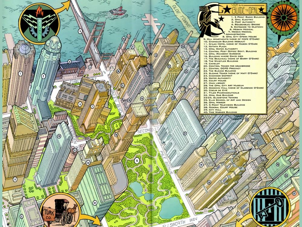 Opal City Starman Secret Files map