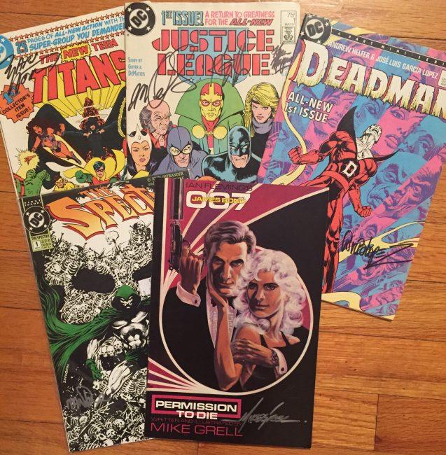 John Trumbull signed comics