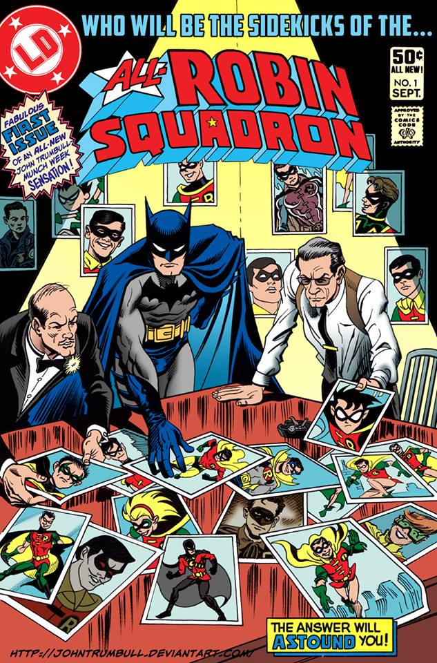All-Robin Squadron John Trumbull after Rich Buckler