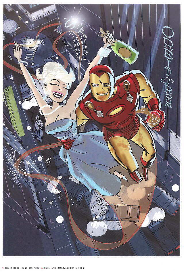 Darwyn Cooke Drunk Iron Man Back Issue 28