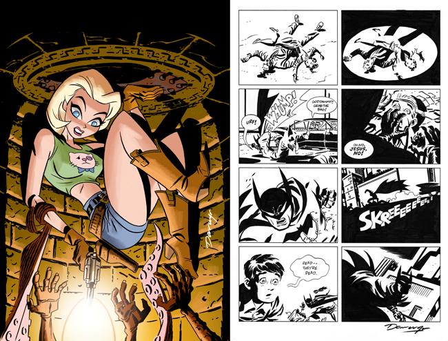 Darwyn Cooke Lorna cover Stalker page