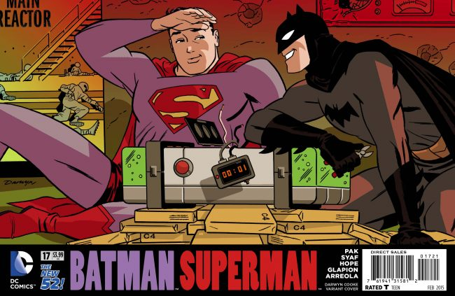 Darwyn Cooke Batman Superman cover