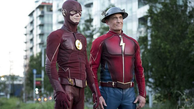 Flash Grant Gustin John Wesley Shipp Barry Allen Jay Garrick CW TV