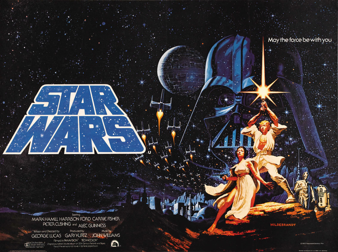 The original Star Wars poster by the Brothers Hildebrandt.