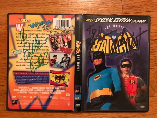 Batman 1966 movie DVD signed Adam West Burt Ward Frank Gorshin Lee Meriwether