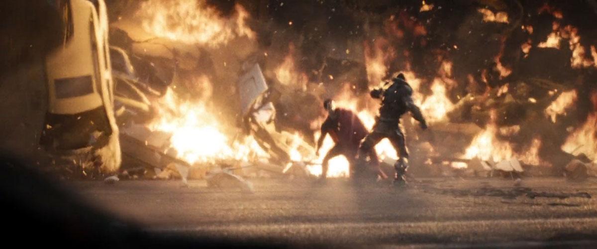 Fight scene from 'Man of Steel'