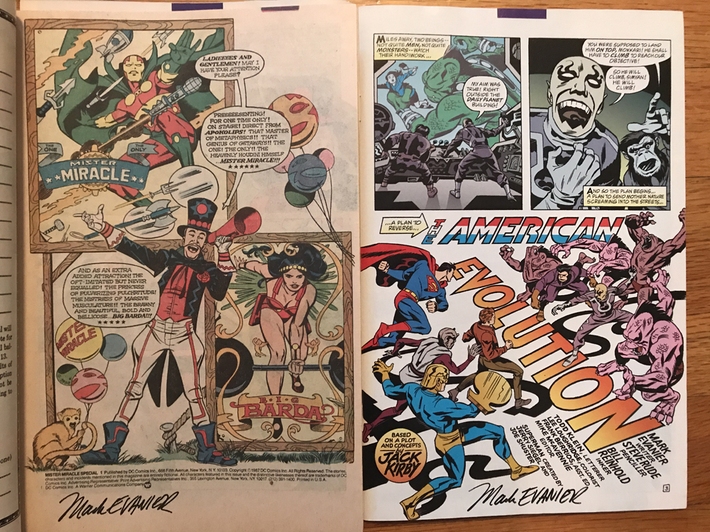Mark Evanier Steve Rude signature Baltimore Comic Con 2017