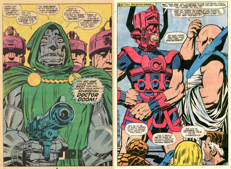 Doctor Doom Galactus Watcher Stan Lee Jack Kirby