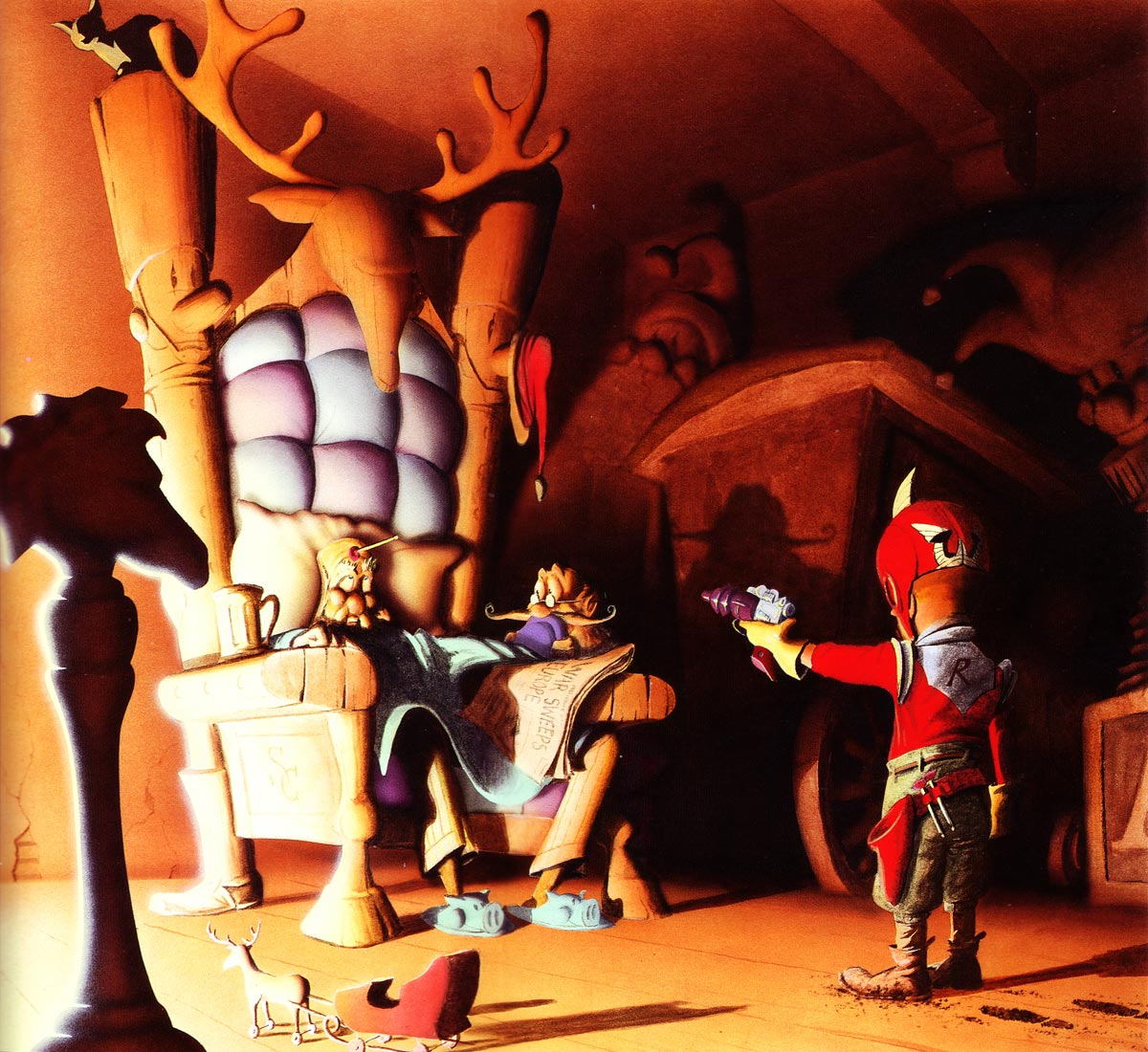 Red confronts Saunder Saunder Clös.