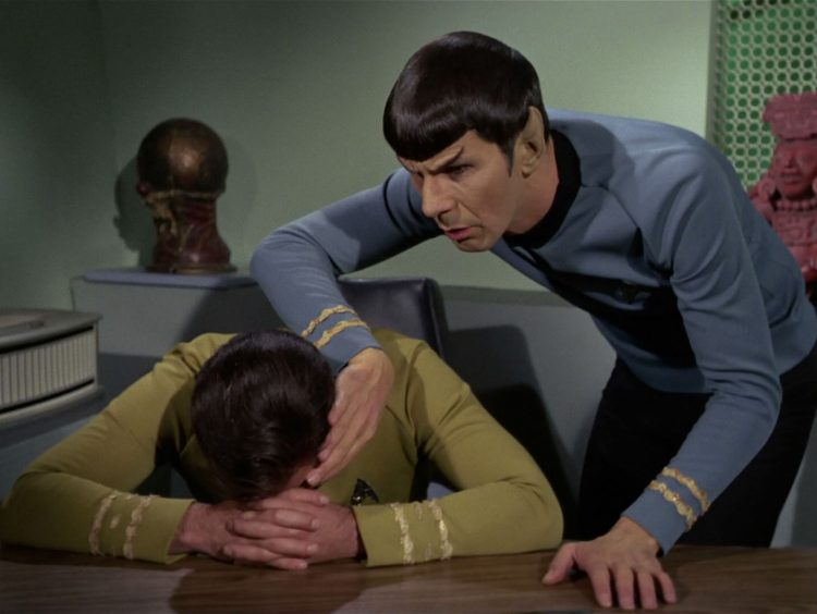 Spock mind meld Requiem for Methuselah Star Trek TOS Atomic Junk Shop