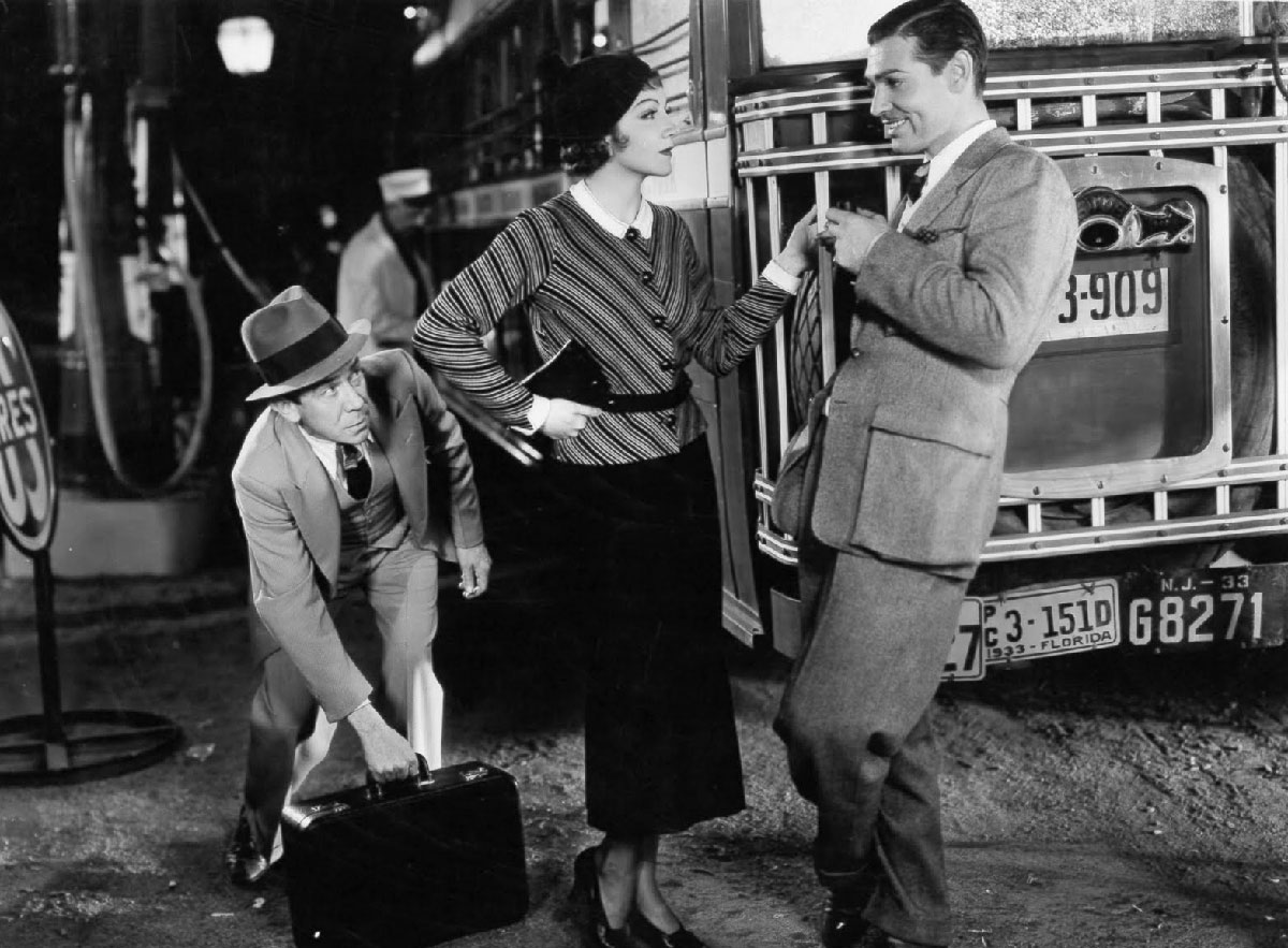 Claudette Colbert and Clark Gable in 'It Happened One Night.'