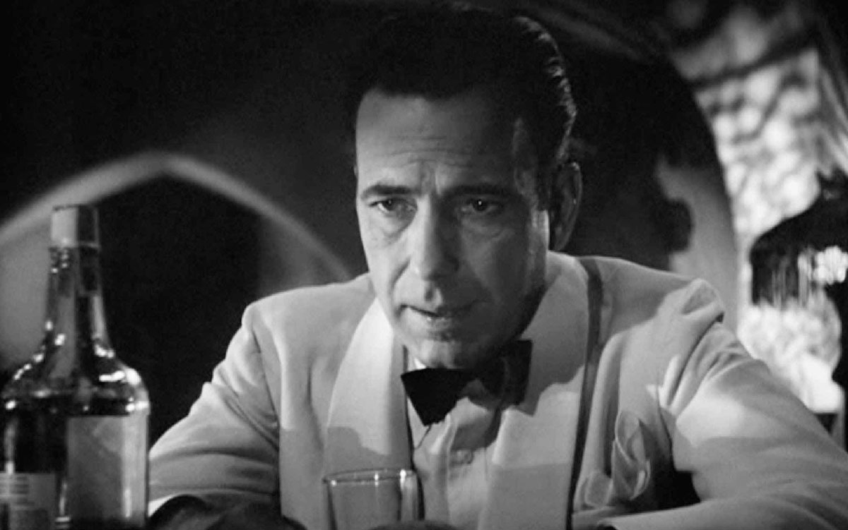 Humphrey Bogart in 'Casablanca'.