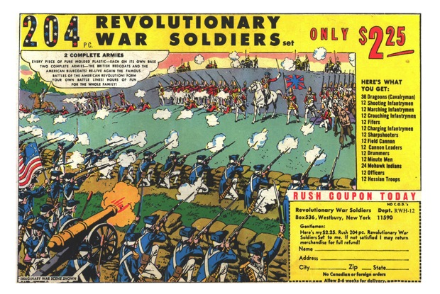 Russ Heath art for toy soldiers ad.