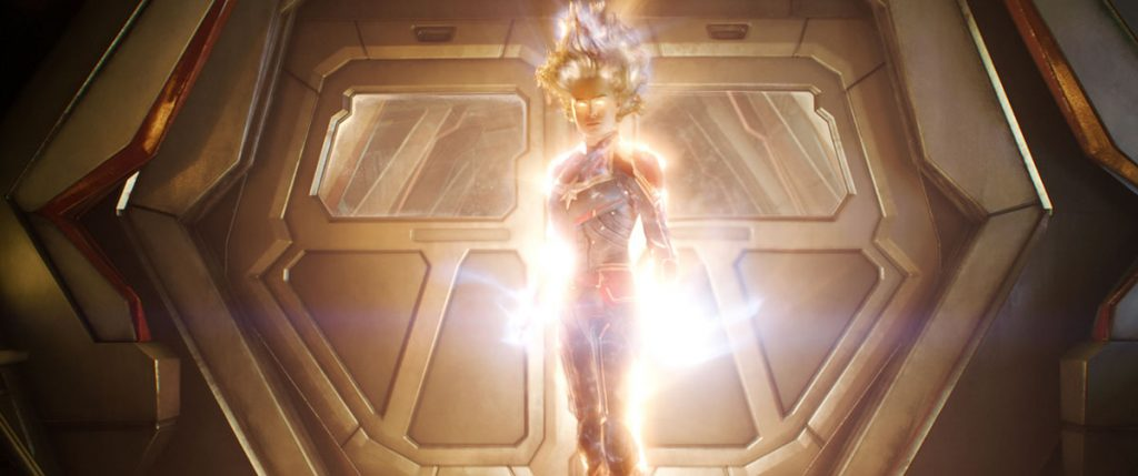 Captain Marvel all aglow