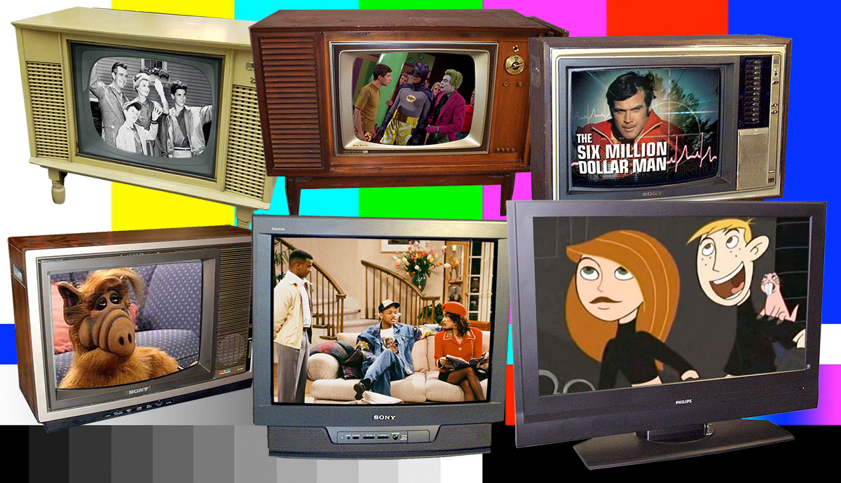 TV shows on vintage TV sets
