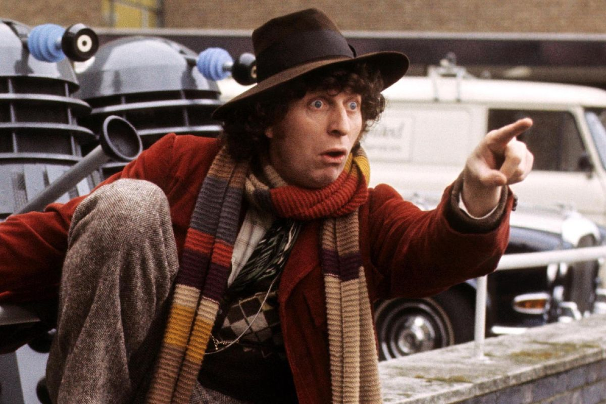 Tom Baker as The Doctor on 'Doctor Who'