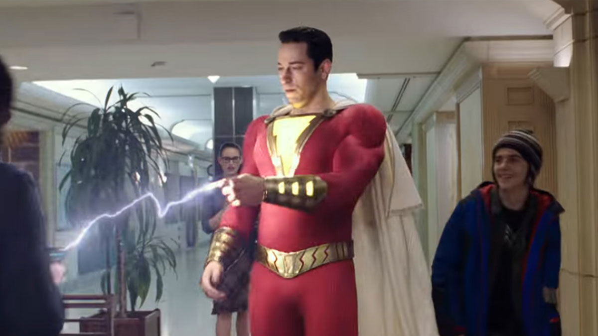 Shazam charging a cell phone