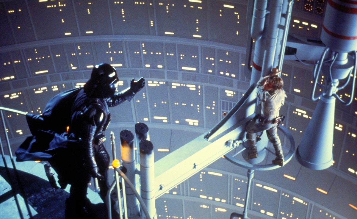 Darth Vader and Luke Skywalker in 'Empire Strikes Back'.