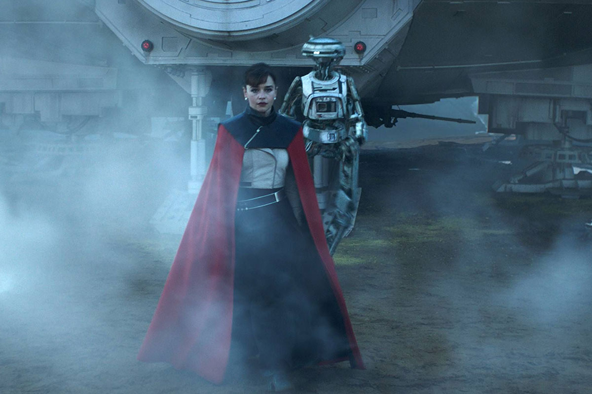 Emilia Clarke as Qi'ra, Phoebe Waller-Bridge as L3-37.