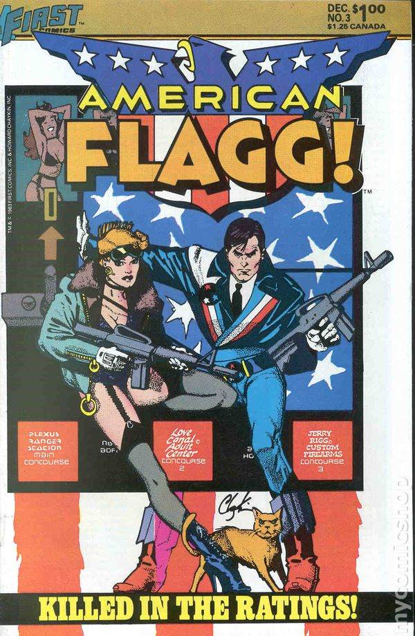 'American Flagg' no. 3 Cover