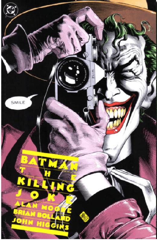 Batman Killing Joke cover Hoarder advertised
