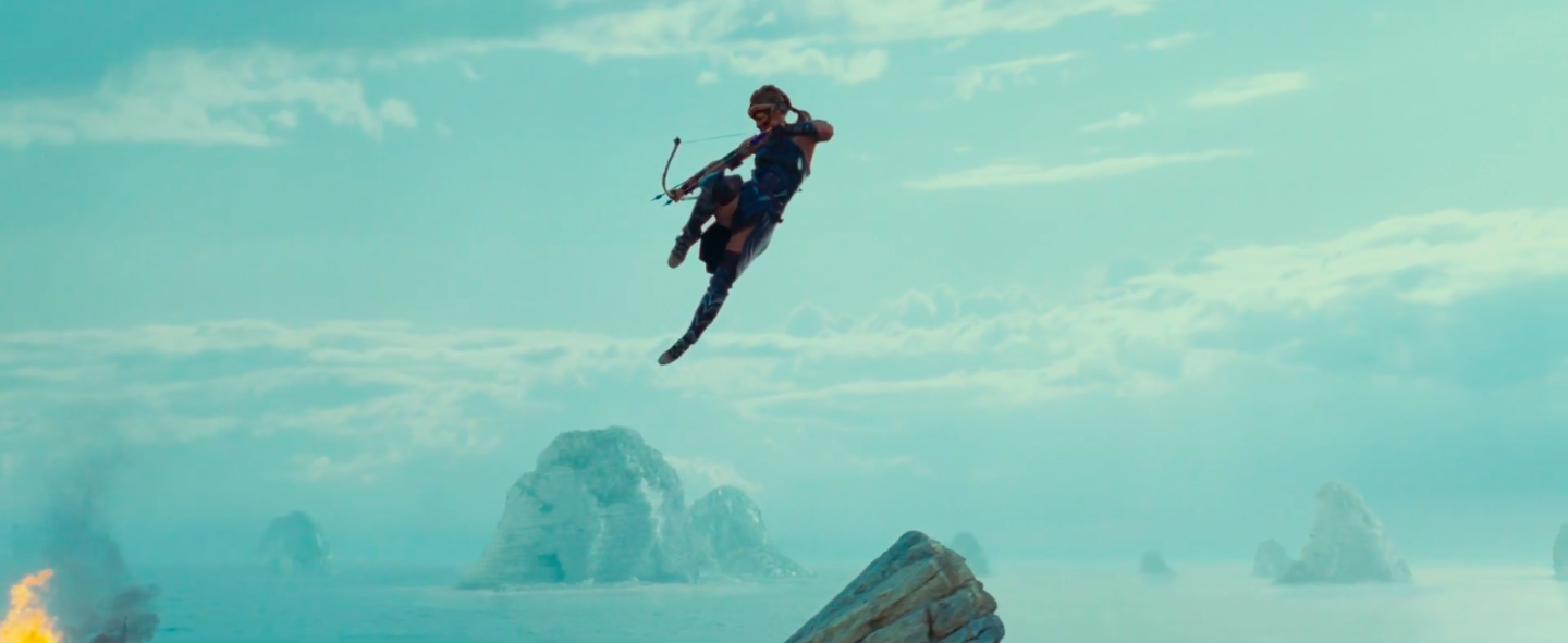 Antiope (Robin Wright) rains down the hurt on invading soldiers.