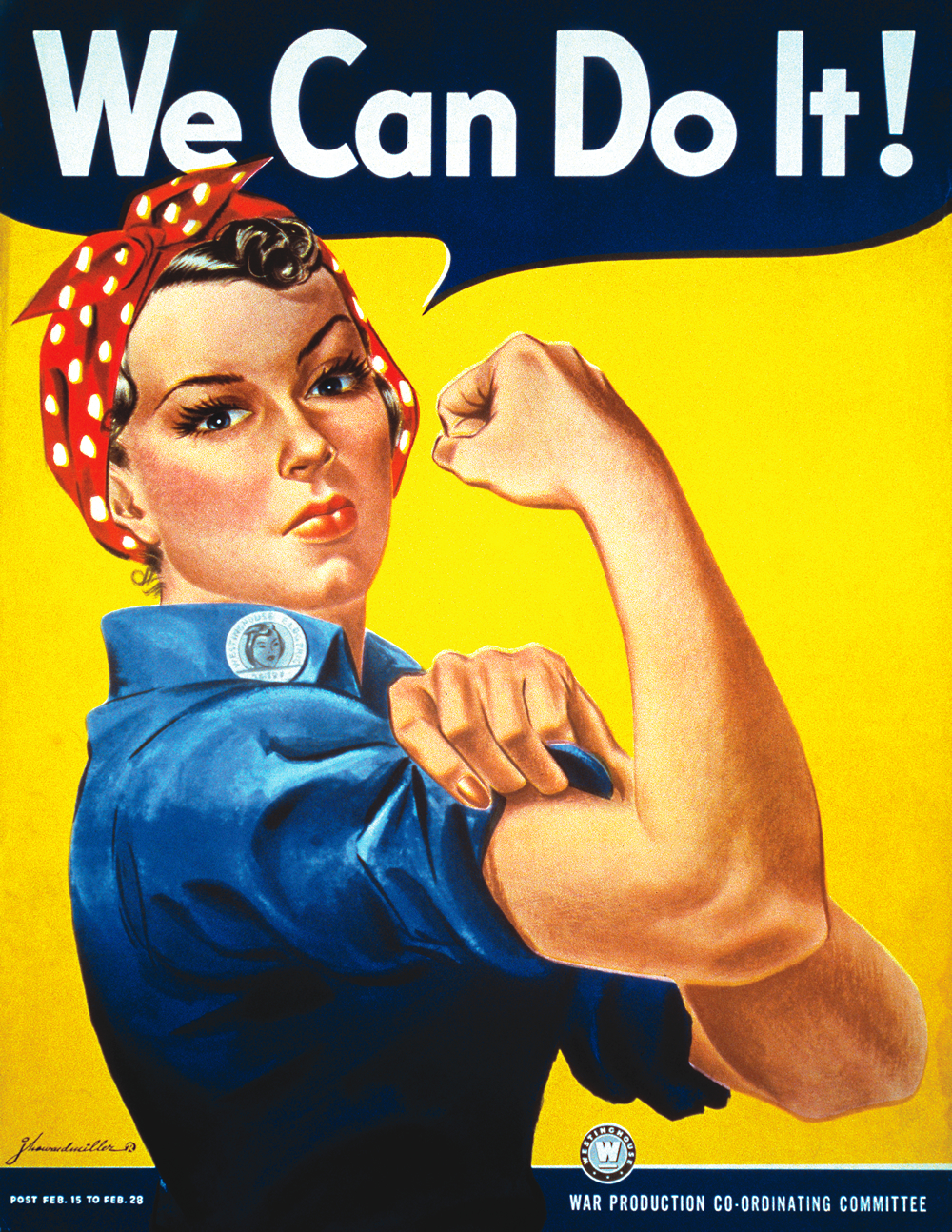 """WWII """"We Can Do It"""" poster"""