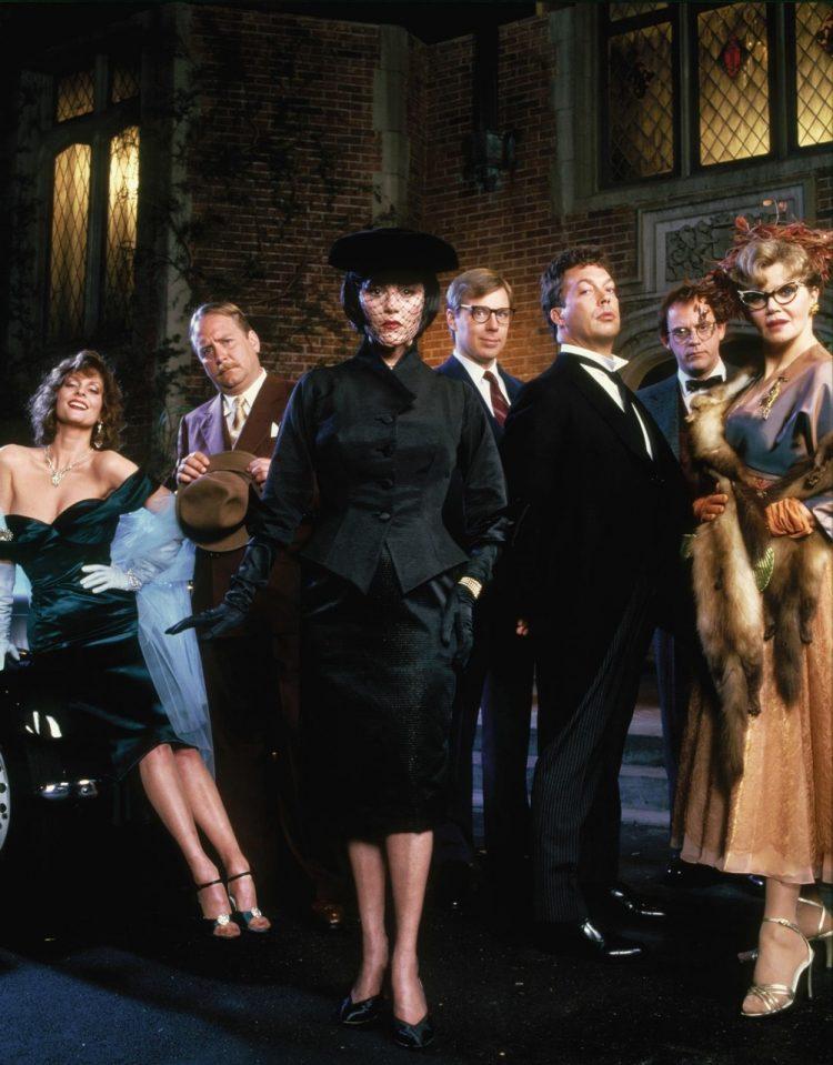 Clue 1985 cast Atomic Junk Shop